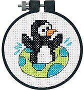 Dimensions Needlecrafts 70-08950 Christmas Penguin Counted Cross Stitch Kit