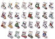 Tiny Christmas Stocking Ornaments Counted Cross Stitch Kit