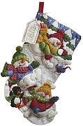 Snow Fun Christmas Stocking Felt Applique Kit