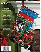 Candy Express Christmas Stocking - Felt Applique Kit