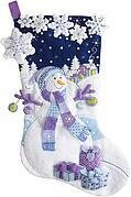 Frosty Night Christmas Stocking - Felt Applique Kit