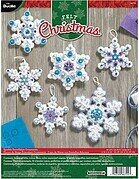 Sparkle Snowflake Christmas Ornaments - Felt Applique Kit