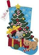 The Pawfect Gift Stocking - Christmas Felt Applique Kit