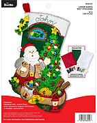 Lodge Santa - Christmas Stocking Felt Applique Kit