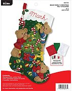 Bear Family Christmas Stocking - Felt Applique Kit
