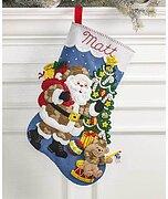 85431 Sugar Plum Fairy Bucilla 18-inch Christmas Stocking Felt Applique Kit