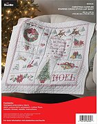 Christmas Sampler Lap Quilt - Stamped Cross Stitch Kit