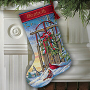 Christmas Sled Stocking - Cross Stitch Kit
