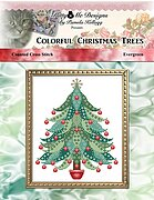 Colorful Christmas Trees - Evergreen - Cross Stitch Pattern