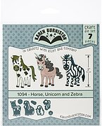 Horse, Unicorn, and Zebra - Karen Burniston Craft Die