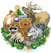 The Friendly Forest - Cross Stitch Pattern