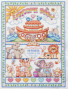 Noah's Ark Birth Record - Cross Stitch Pattern