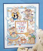 Heavenly Bunnies Birth Record - Cross Stitch Pattern