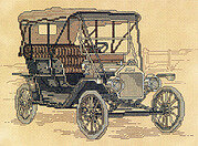 Vintage Automobile - Cross Stitch Pattern