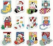 Tiny Christmas Stockings - Cross Stitch Pattern