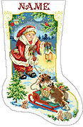 Let's Pretend Christmas Stocking - Cross Stitch Pattern