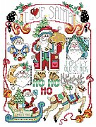 I Love Santa - Christmas Cross Stitch Pattern
