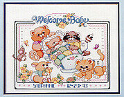 Welcome Baby Birth Record - Cross Stitch Pattern