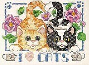 I Love Cats - Cross Stitch Pattern