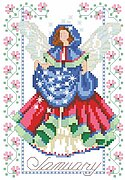 Birthday Faeries January - Cross Stitch Pattern