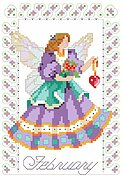 Birthday Faeries February - Cross Stitch Pattern