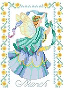 Birthday Faeries March - Cross Stitch Pattern