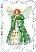 Birthday Faeries May - Cross Stitch Pattern