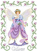Birthday Faeries June - Cross Stitch Pattern