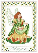 Birthday Faeries August - Cross Stitch Pattern