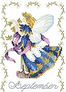Birthday Faeries September - Cross Stitch Pattern