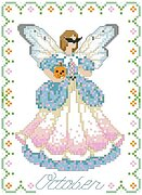 Birthday Faeries October - Cross Stitch Pattern
