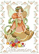 Birthday Faeries November - Cross Stitch Pattern