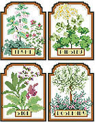 Herb Seed Packets - Cross Stitch Pattern