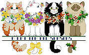 A Cat For All Seasons - Cross Stitch Pattern