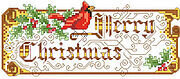 Merry Christmas Victorian - Cross Stitch Pattern