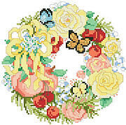 Wreath For Summer, A - Cross Stitch Pattern