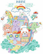 Noah's Ark Birth Announcement - Cross Stitch Pattern