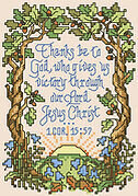 1 Corinthians 15:57 - Christian Cross Stitch Pattern