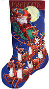 Up Up and Away Christmas Stocking - Cross Stitch Pattern