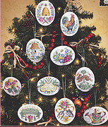 Gardener's Christmas Ornaments - Cross Stitch Pattern