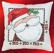 Jolly St. Nick Pillow - Christmas Cross Stitch Pattern