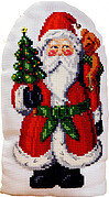 Santa Big Stitch Pillow - Christmas Cross Stitch Pattern