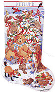 A Wildlife Christmas Stocking - Cross Stitch Pattern