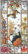 Autumn Cat Sampler - Cross Stitch Pattern