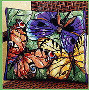 Stained Glass Butterflies - Cross Stitch Pattern