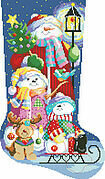 Winter Fun Christmas Stocking - Cross Stitch Pattern