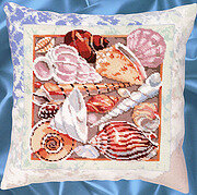 Seashell Pillow - Cross Stitch Pattern