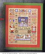 Home For The Holidays Sampler - Cross Stitch Pattern