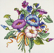 Morning Glory Bouquet - Cross Stitch Pattern