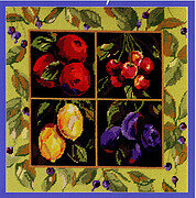 Fruit Pillow - Cross Stitch Pattern